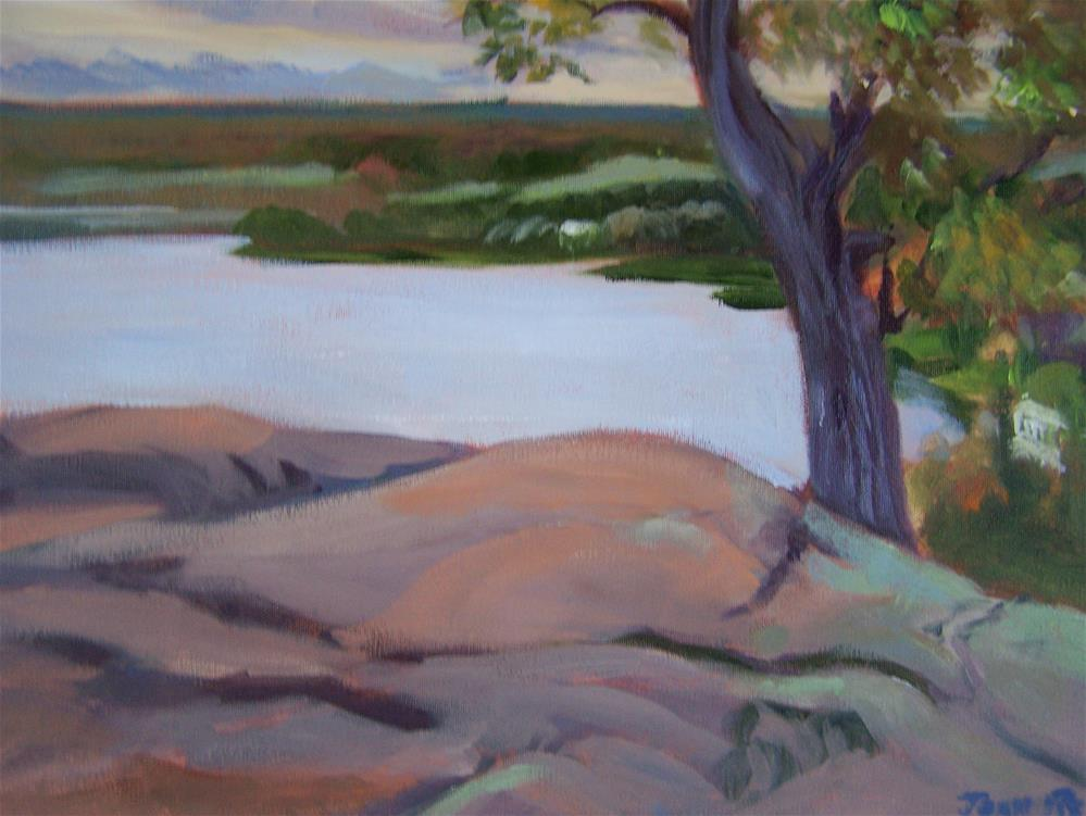 """On the Rock"" original fine art by Joan Reive"