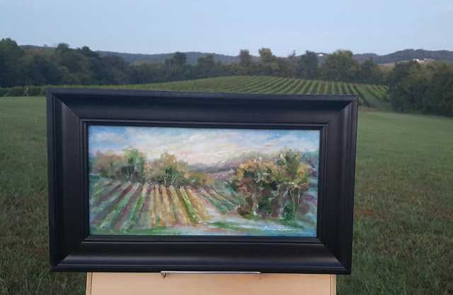 """Dusk on the Vineyard"" original fine art by Tammie Dickerson"