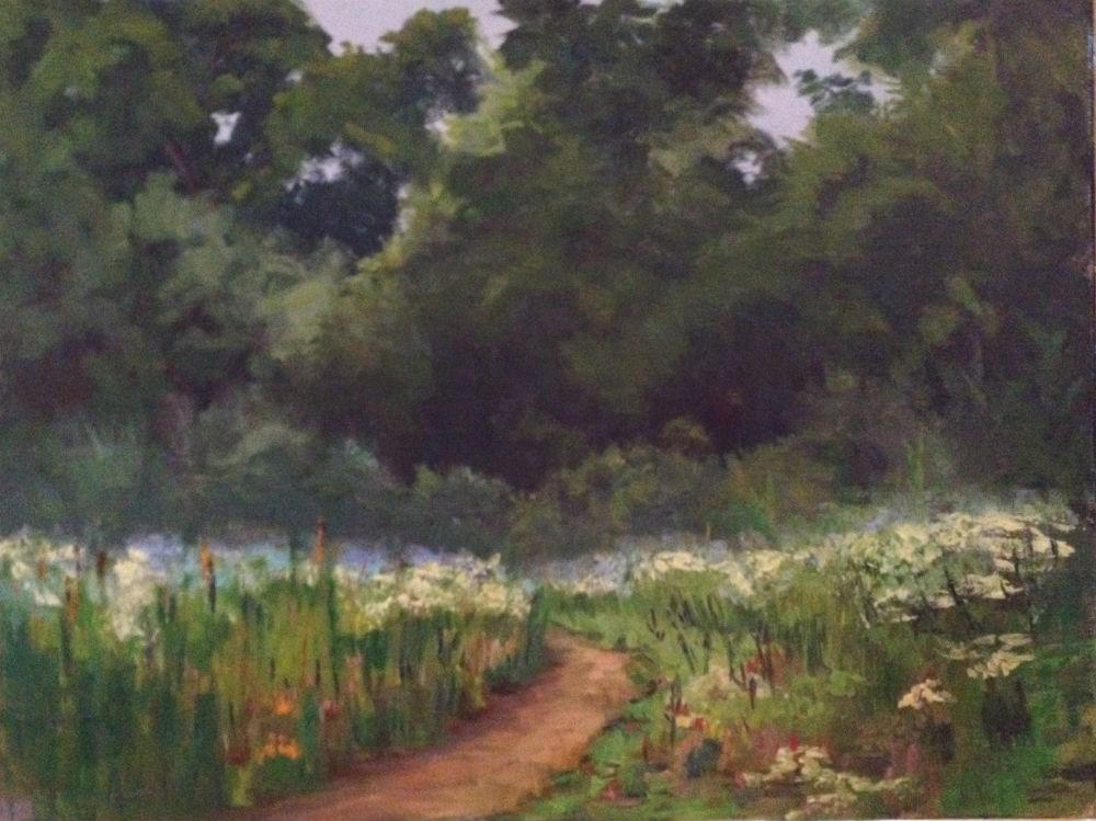 """Wild Flower Morning"" original fine art by Judith Anderson"