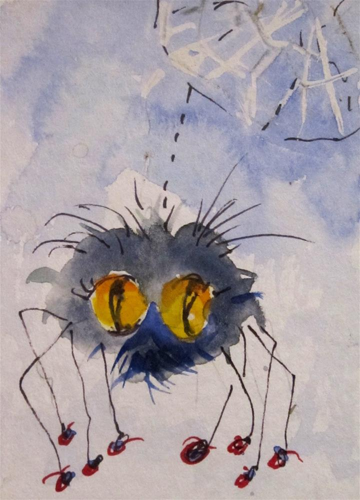 """Spider aceo"" original fine art by Delilah Smith"