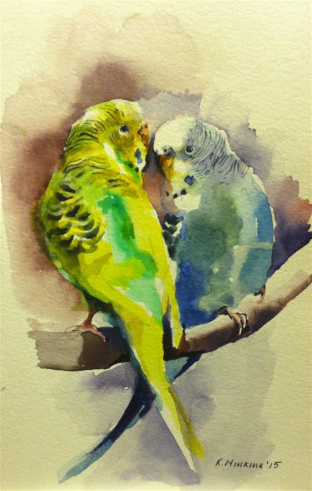"""budgie16"" original fine art by Katya Minkina"
