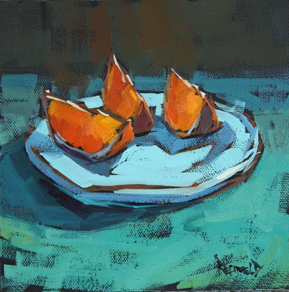 """Oranges on a Plate"" original fine art by Cathleen Rehfeld"
