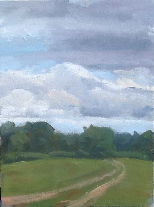 """Storm Brewing"" original fine art by Elizabeth Bish"
