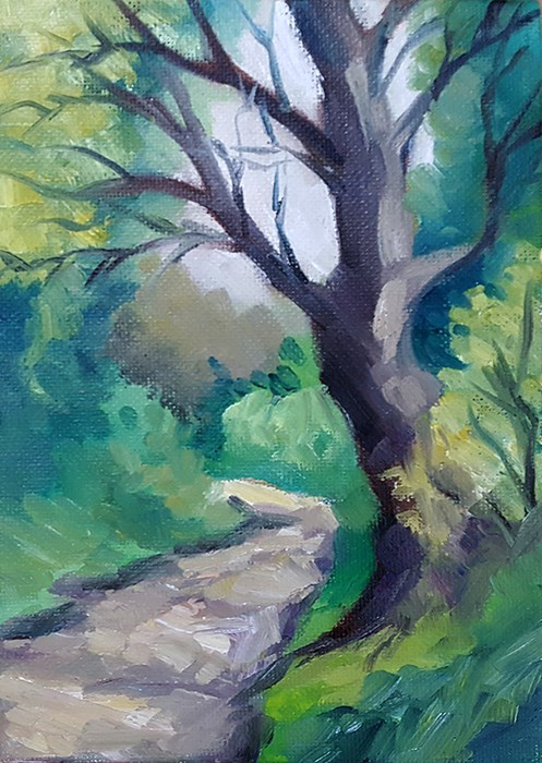 """Path Near The Allotments"" original fine art by J M Needham"