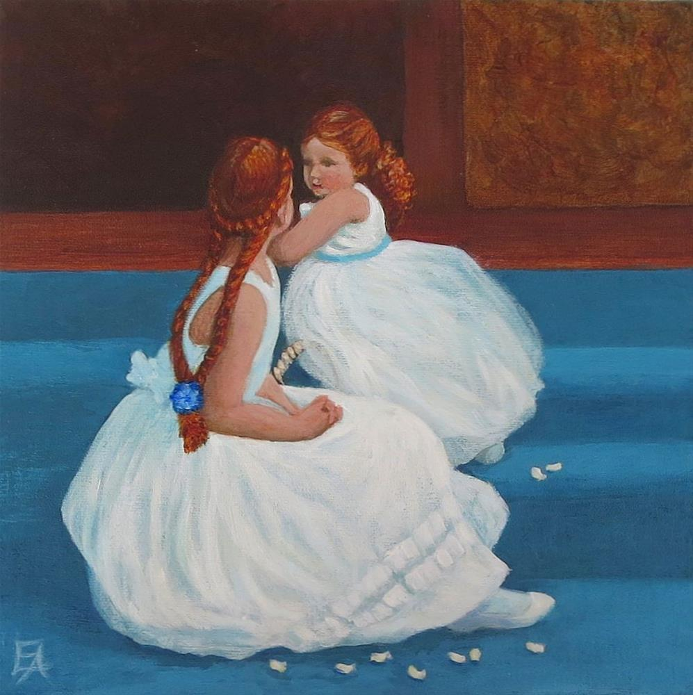 """Redhead Flowergirls"" original fine art by Elizabeth Elgin"