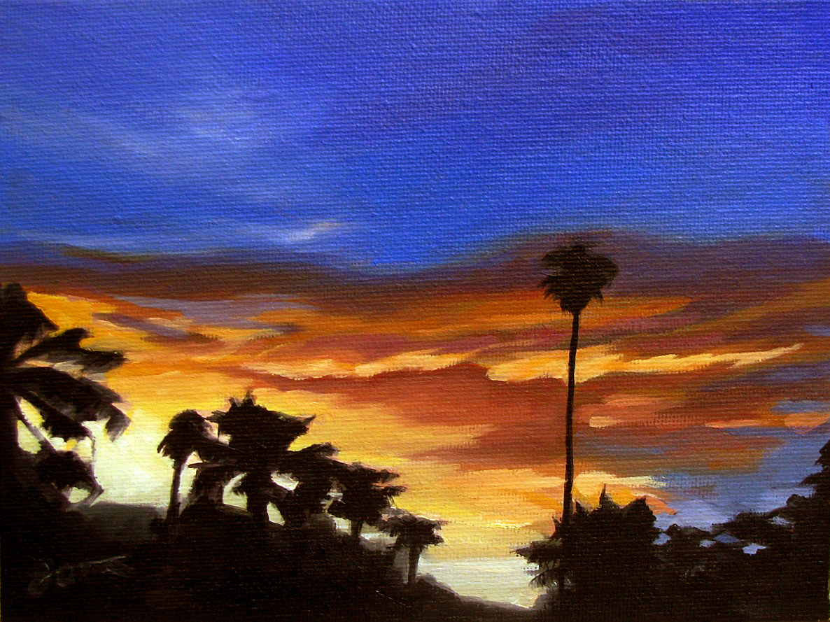 """Sunset Glow-2"" original fine art by Joanna Bingham"