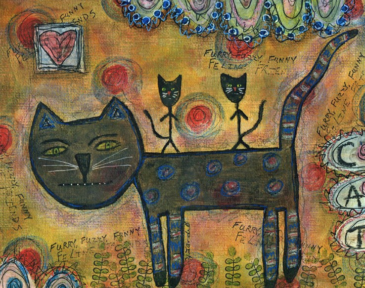 """Kitty Kat Ride"" original fine art by Sonja Sandell"