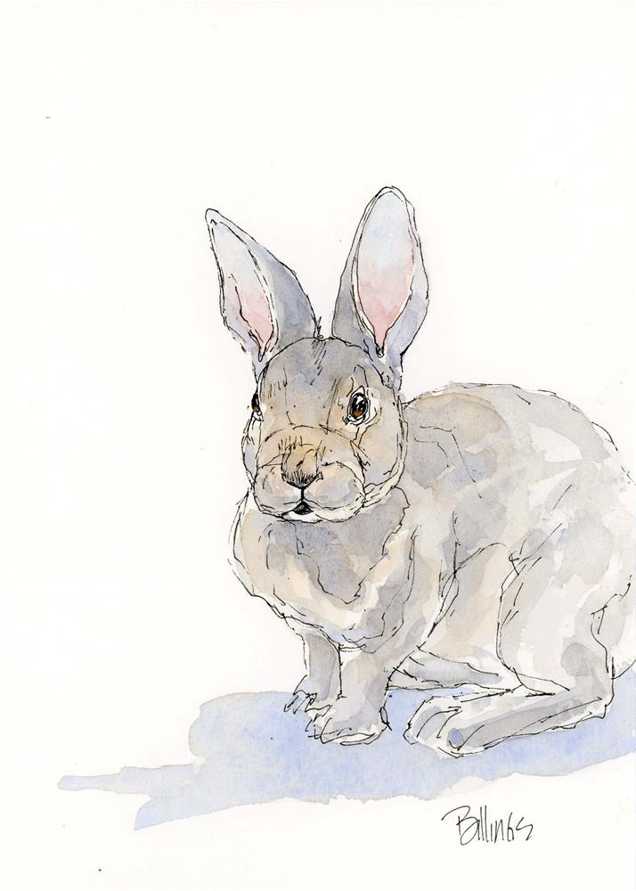 """Another Bunny II"" original fine art by Susanne Billings"