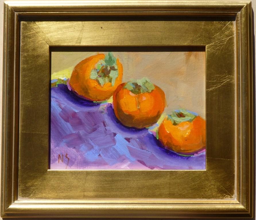 """Fuyu Persimmon 14076"" original fine art by Nancy Standlee"