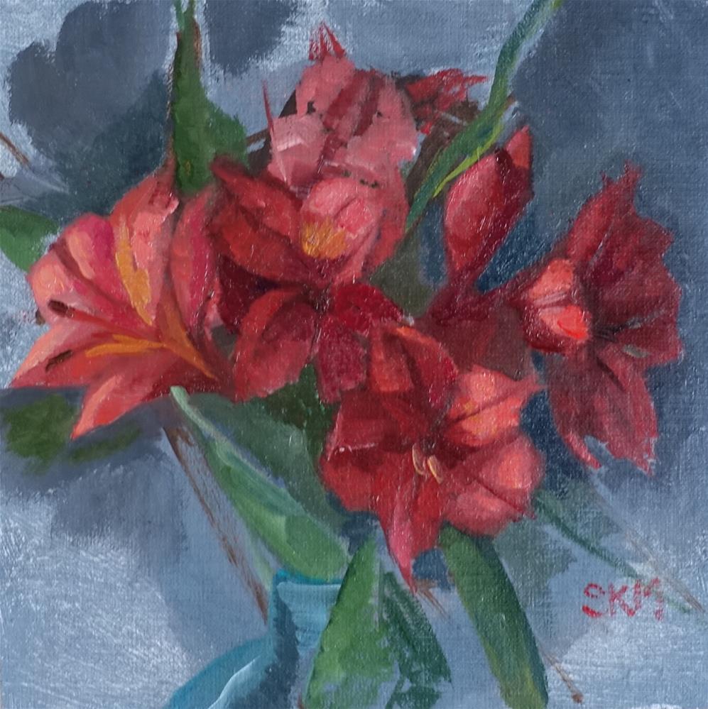 """flower study"" original fine art by Sarah Meredith"