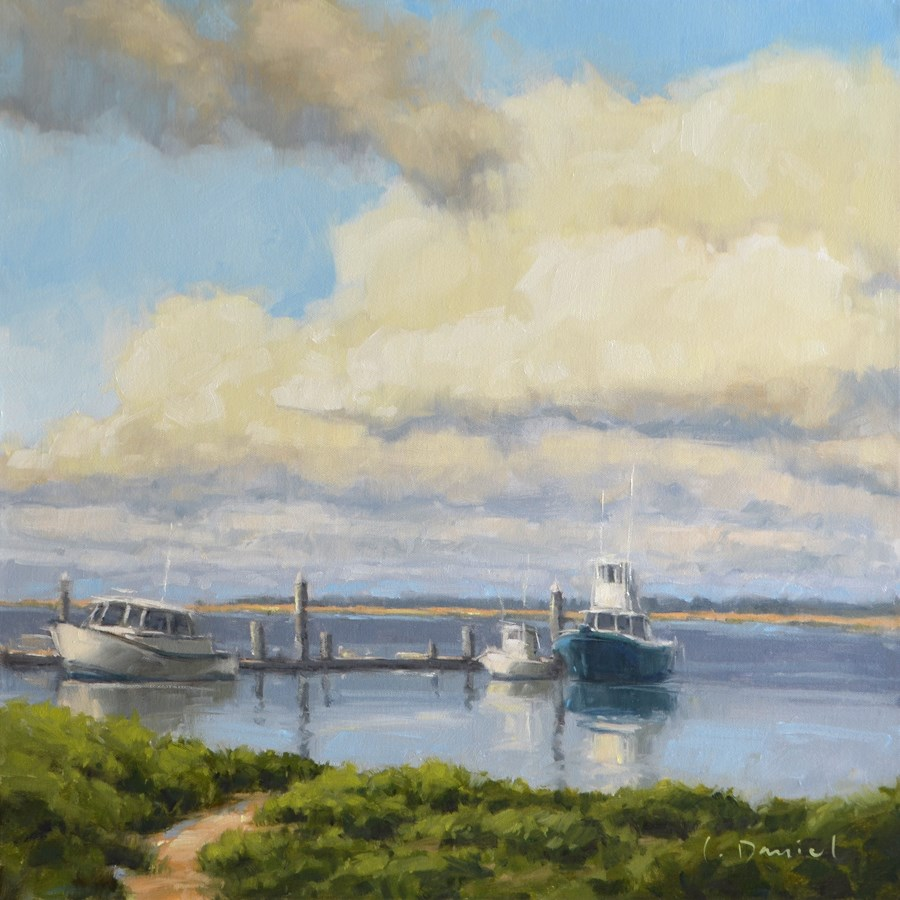 """Seafaring Vessels - Anderson Gallery Exhibit"" original fine art by Laurel Daniel"