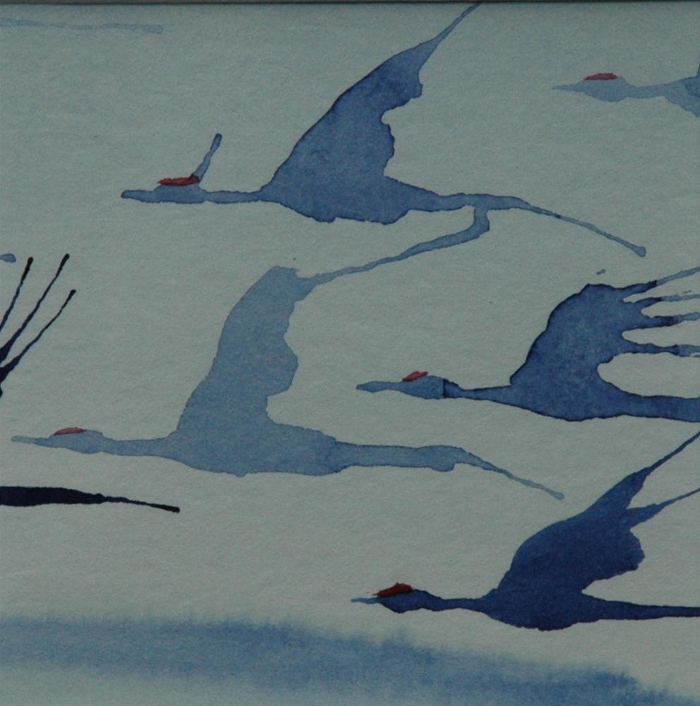 """""""Zug der Kraniche"""" original fine art by Ulrike Schmidt"""
