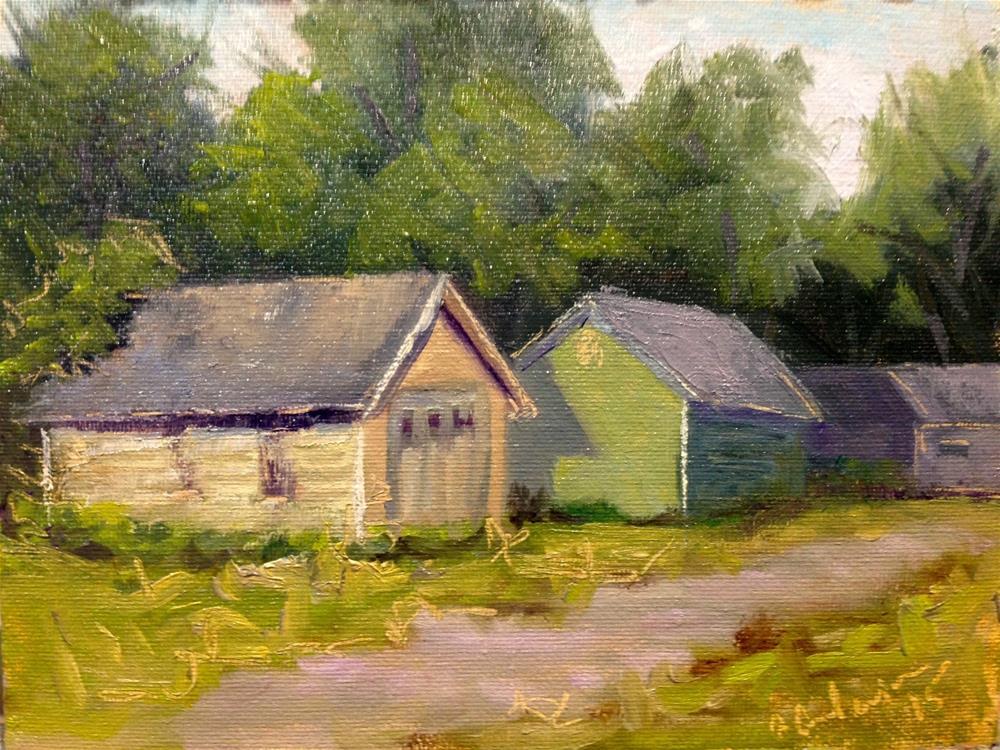 """Hudson Alley"" original fine art by Judith Anderson"