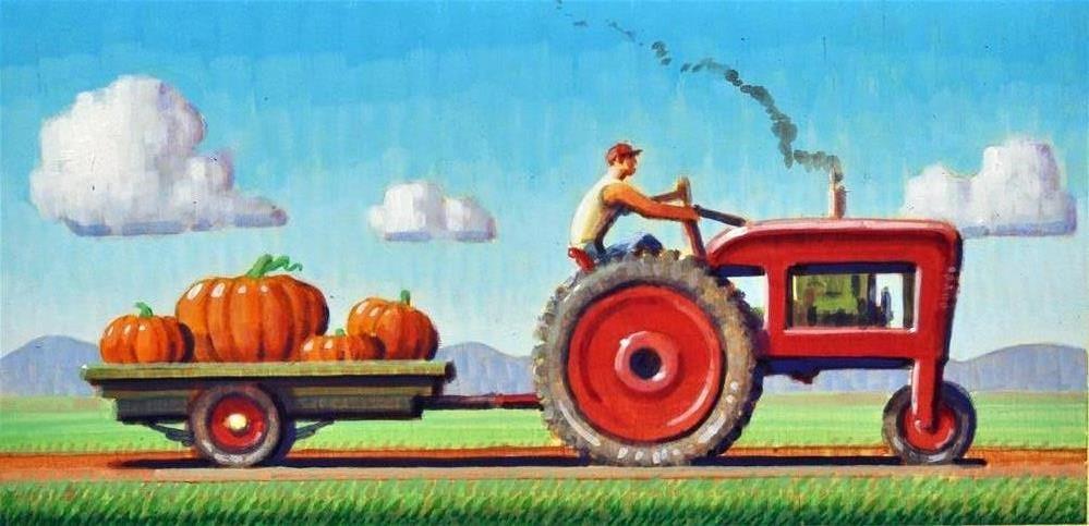 """""""Harvest"""" original fine art by Robert LaDuke"""