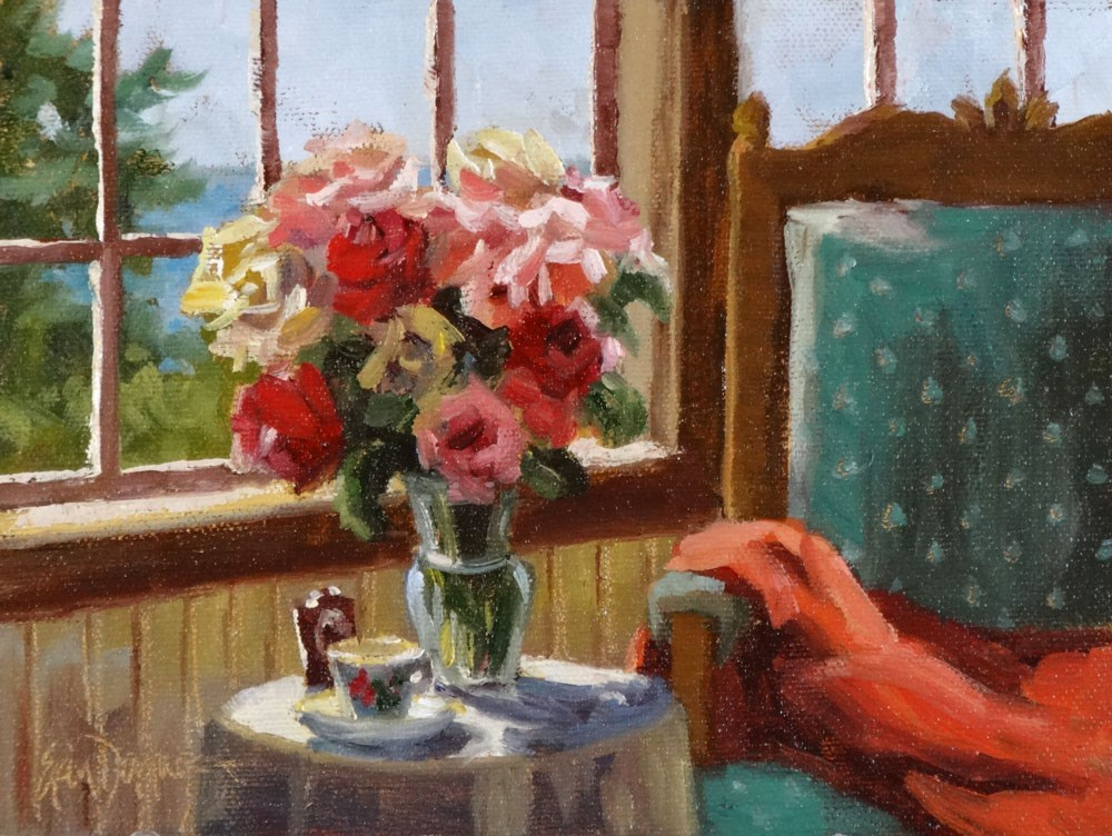 """Cozy Corner"" original fine art by Erin Dertner"