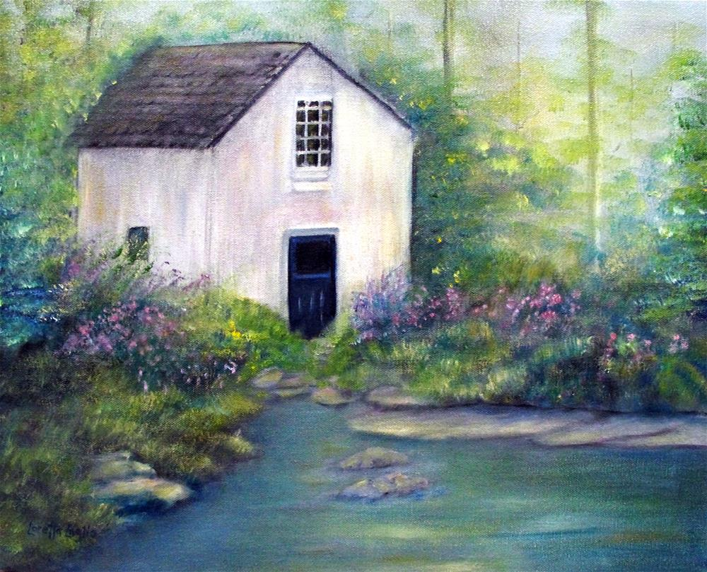 """Old Springhouse"" original fine art by Loretta Luglio"
