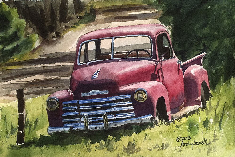 """Five Window Chevy"" original fine art by Andy Sewell"
