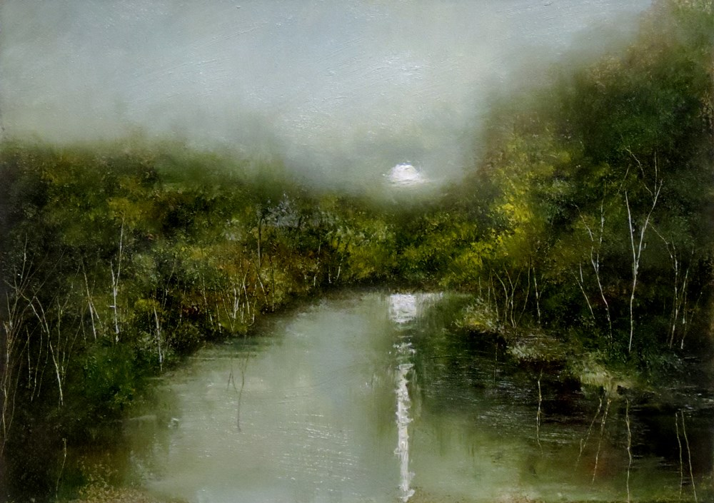 """Moonshine"" original fine art by Bob Kimball"