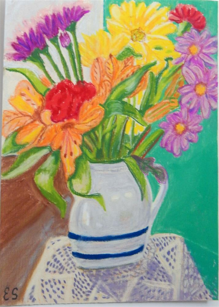 """Colorful Bouquet"" original fine art by Elaine Shortall"