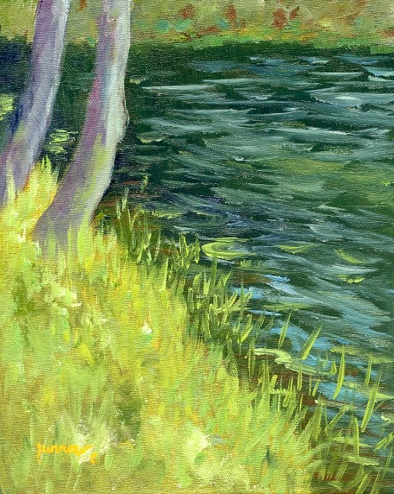 """Summer Trip and Plein Air Painting"" original fine art by Sue Furrow"