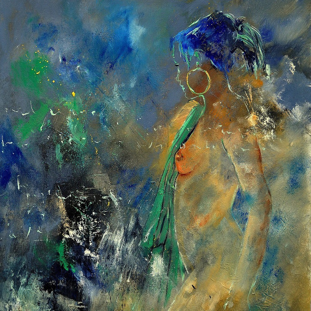 """young girl 662101"" original fine art by Pol Ledent"