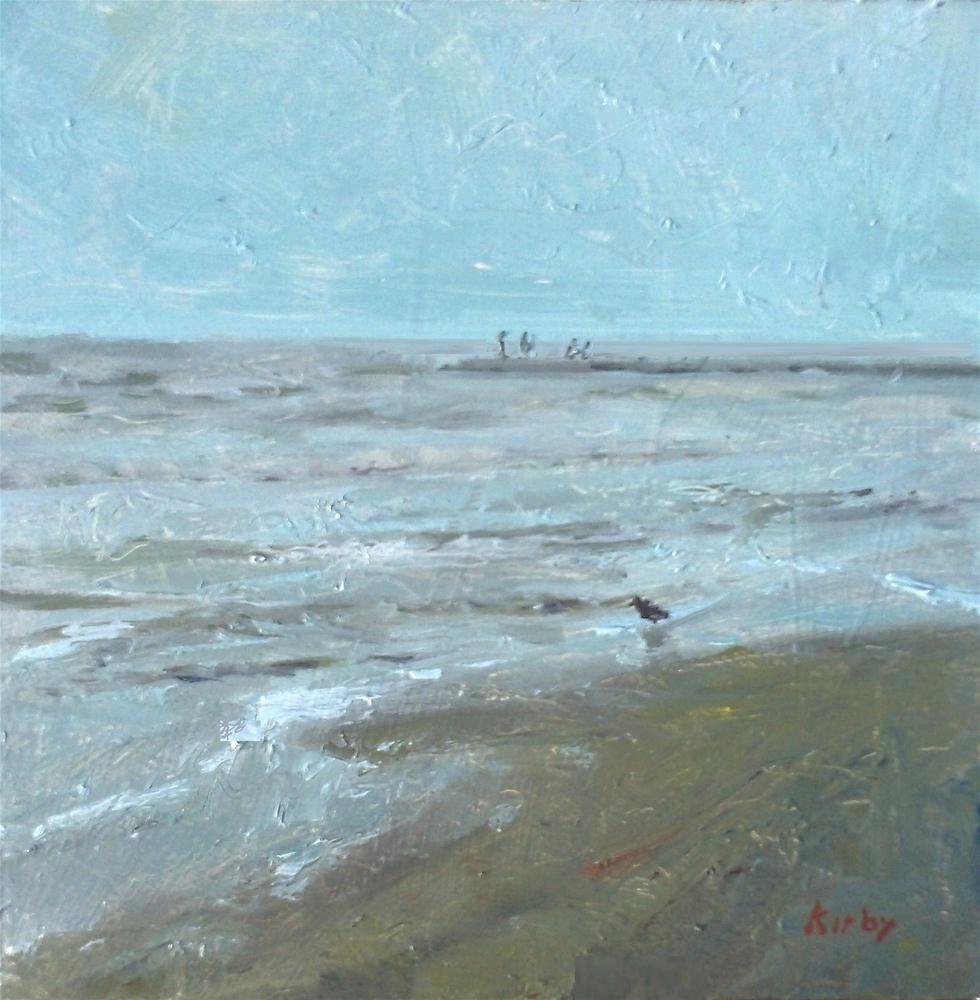 """Evening at the Beach"" original fine art by Randall Cogburn"