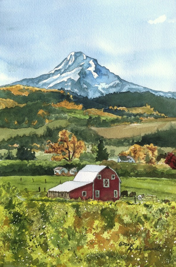 """""""Mt. Hood Country"""" original fine art by Andy Sewell"""