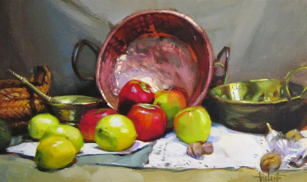 """Copper brightness"" original fine art by Víctor Tristante"