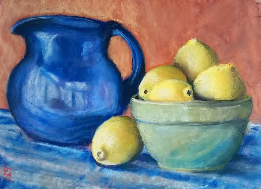 """Lemon Blues"" original fine art by Anna Lisa Leal"