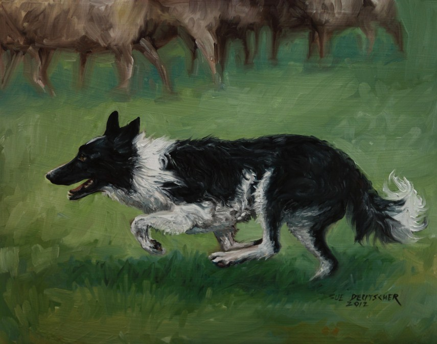 """""""Duncan"""" original fine art by Sue Deutscher"""