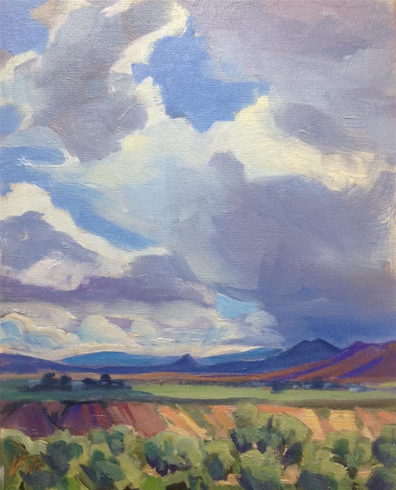 """""""Spring in the Valley II"""" original fine art by Valerie Orlemann"""