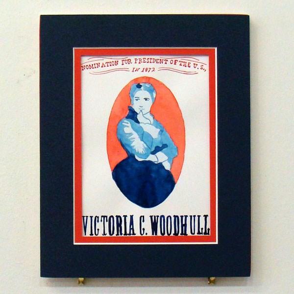 """Victoria Woodhull Study I"" original fine art by Bonnie Fillenwarth"