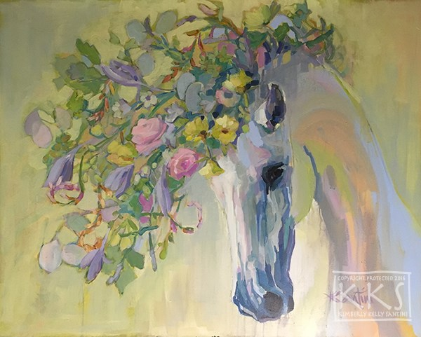 """Lush"" original fine art by Kimberly Santini"