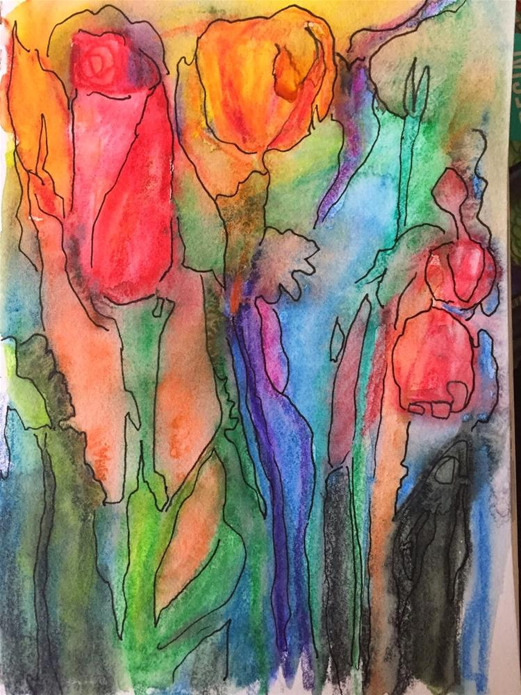 """Inktense Therapy"" original fine art by Ceci Lam"