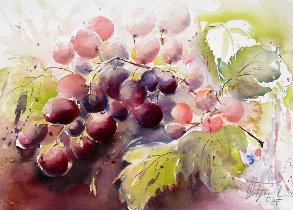 """Grapevine II"" original fine art by Christa Friedl"
