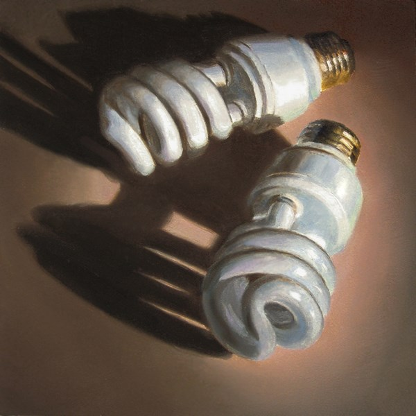 """Light Bulbs"" original fine art by Nance Danforth"