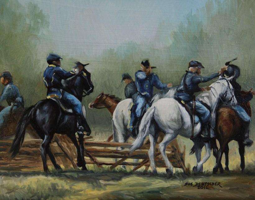 """""""Civil War"""" original fine art by Sue Deutscher"""