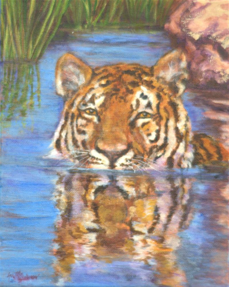 """Cooling Off on a Hot Summer Day"" original fine art by Carla Ridener"
