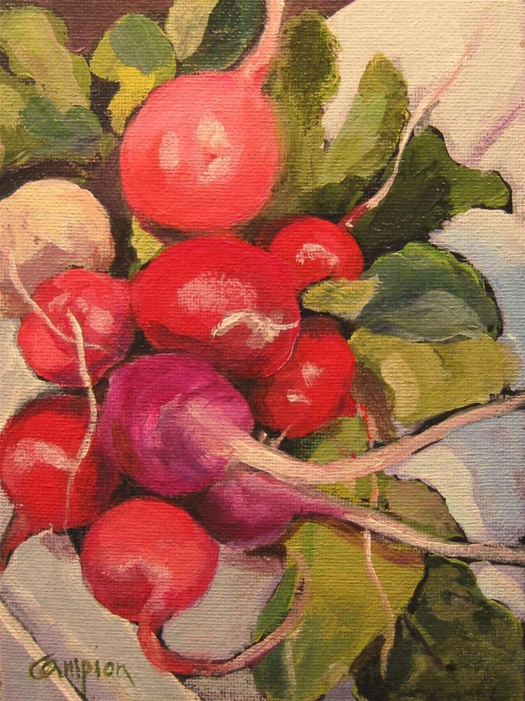 """Fresh Market Radishes"" original fine art by Diane Campion"