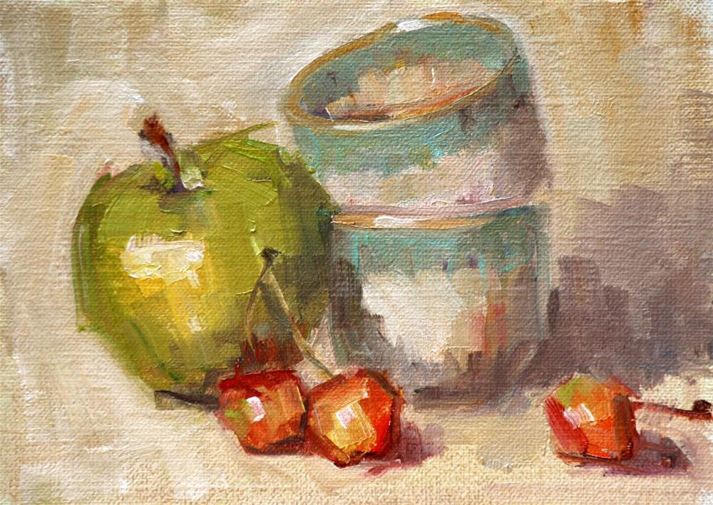 """cheery cherries"" original fine art by Carol Carmichael"
