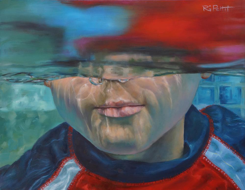 """""""Underwater"""" original fine art by Rhea  Groepper Pettit"""
