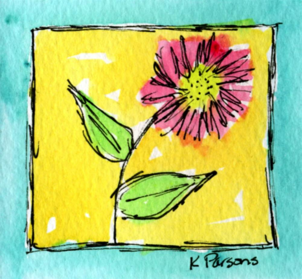 """Bordered by Turquoise"" original fine art by Kali Parsons"