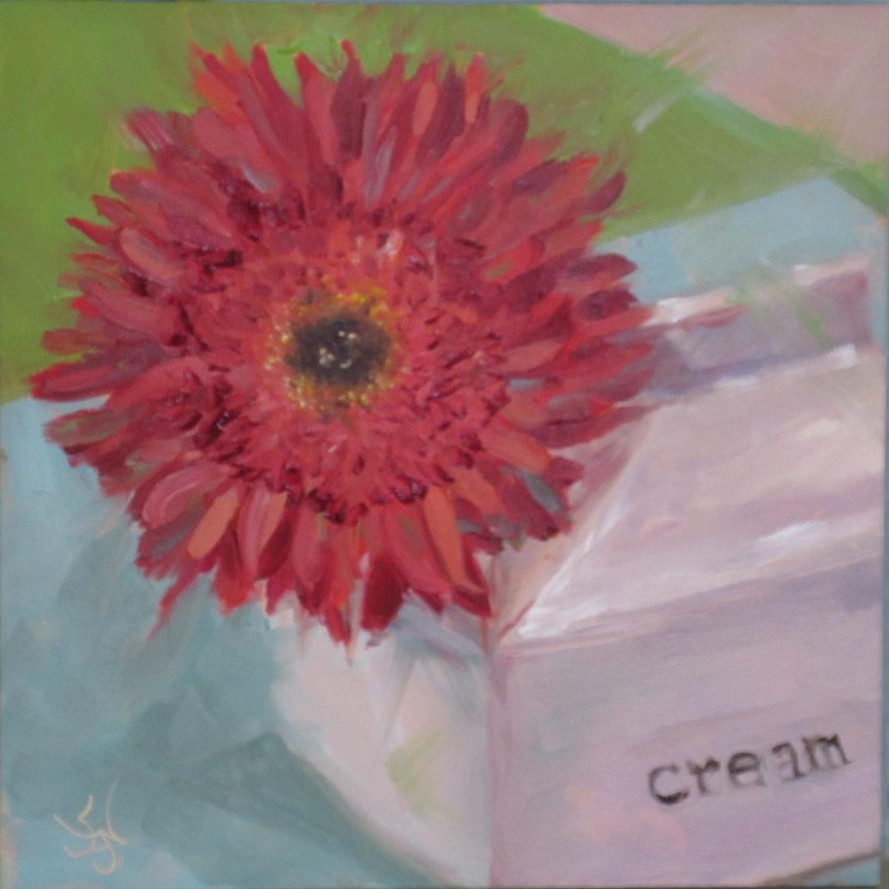 """Gerberas and Cream"" original fine art by Jan Jackson"