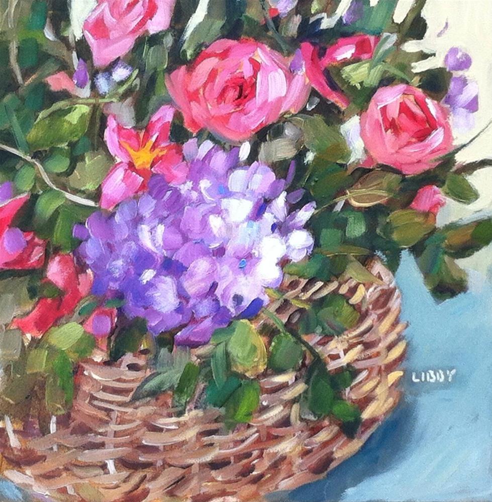 """Favorite Basket"" original fine art by Libby Anderson"