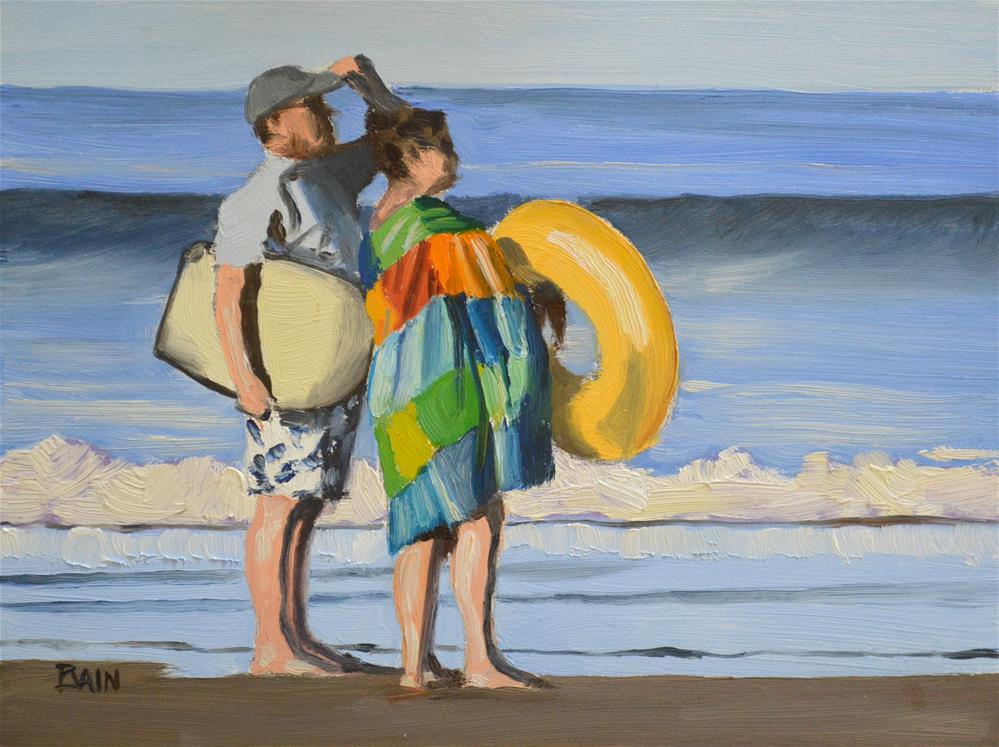 """Surf Toys"" original fine art by Peter Bain"