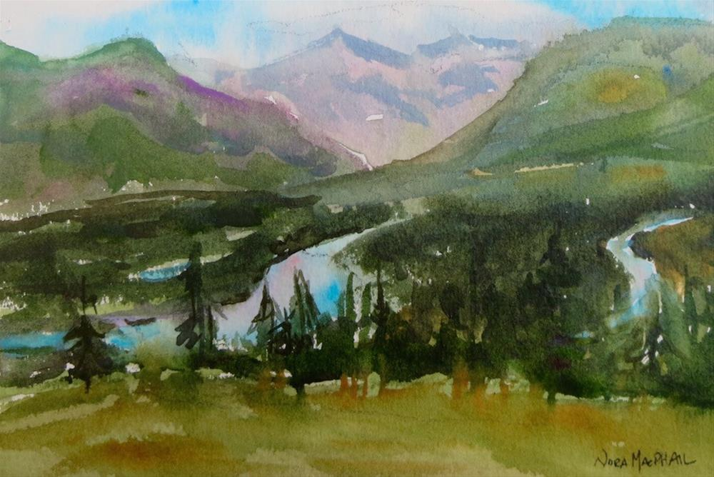 """the evening Bow River"" original fine art by Nora MacPhail"