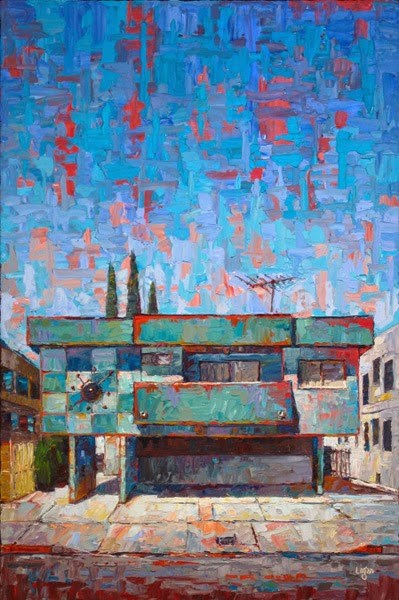 """The Verdigris Apts"" original fine art by Raymond Logan"