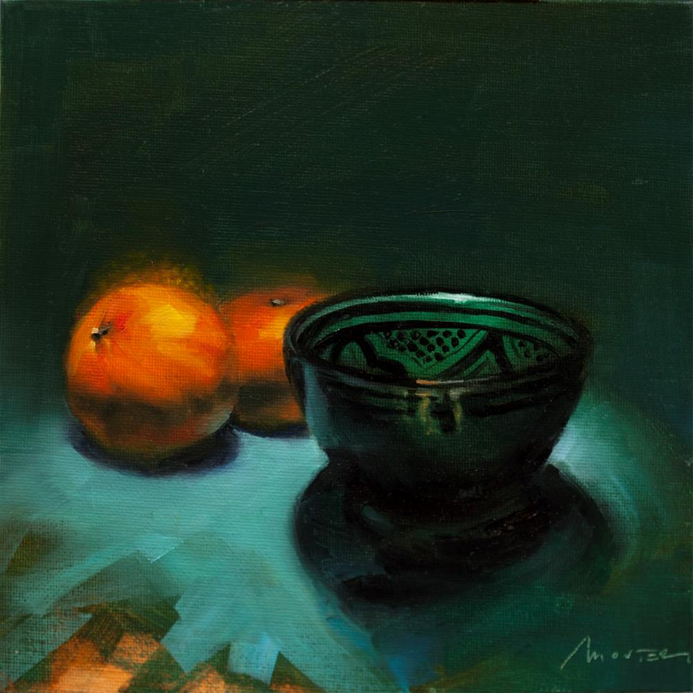 """Green Moroccan Bowl"" original fine art by Thierry Monter"