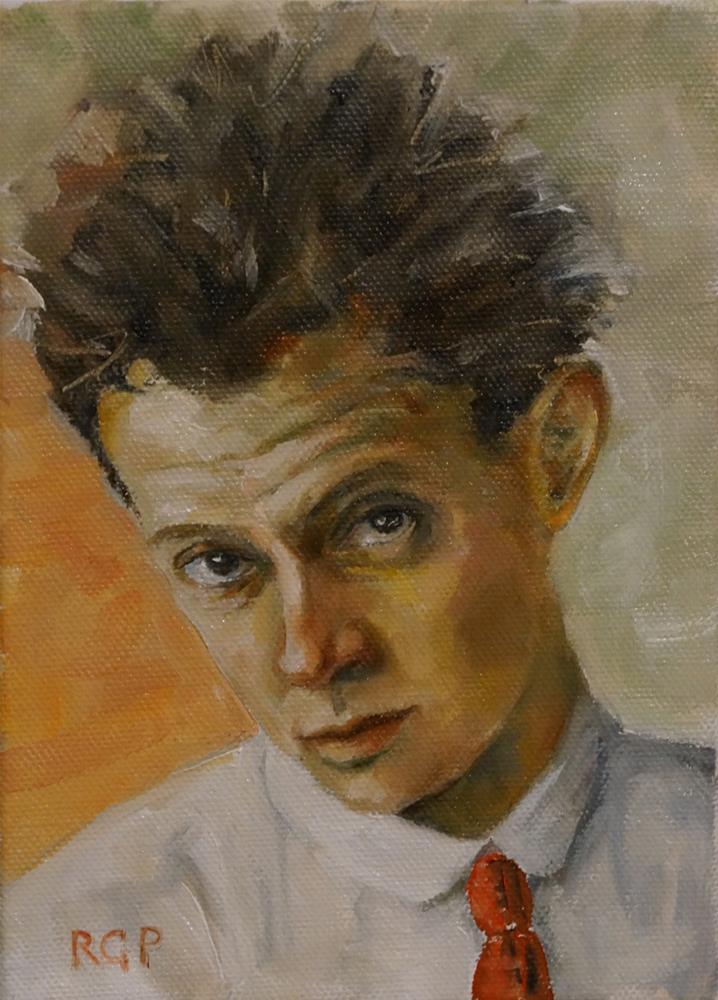 """Schiele"" original fine art by Rhea  Groepper Pettit"