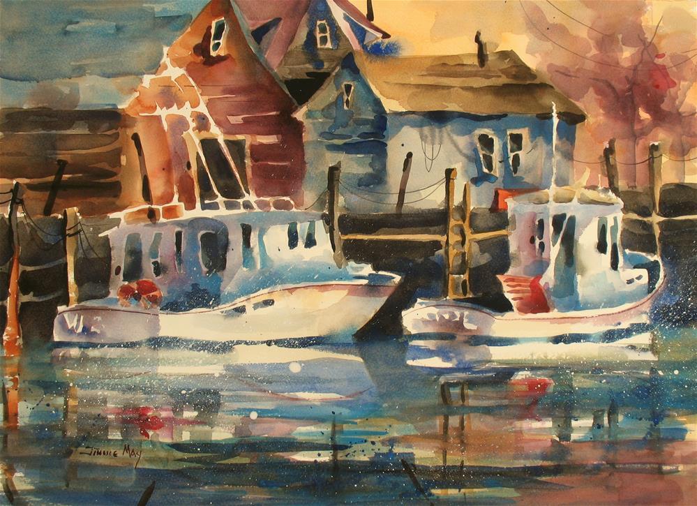 """Cape Cod, MA Sunset Beach Orleans"" original fine art by Jinnie May"